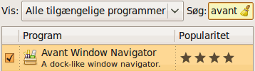 Installér Avant Window Manager